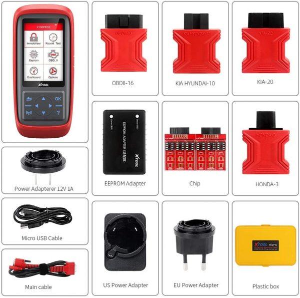 Xtool X100 PRO2 Raktų + Odometro + EEPROM programeris